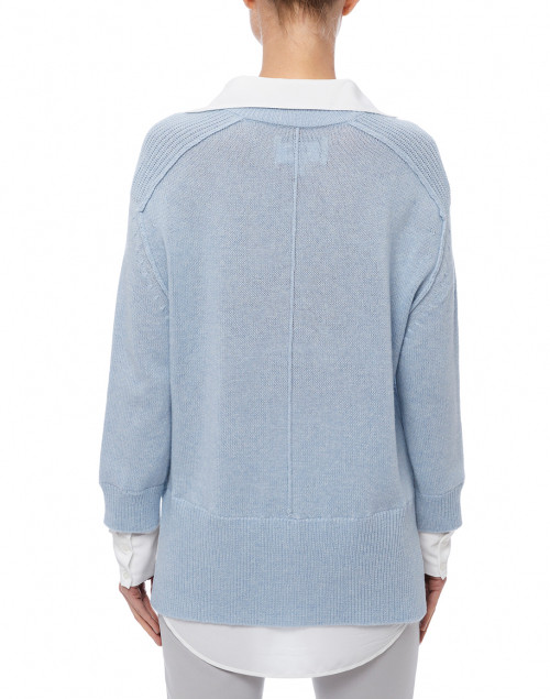 Brochu Walker - Sky Blue Sweater with White Underlayer