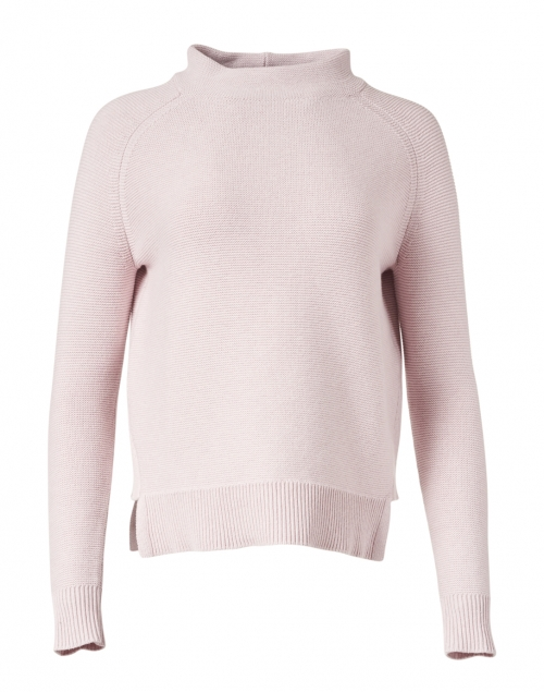 Kinross - Lily Pink Garter Stitch Cotton Sweater