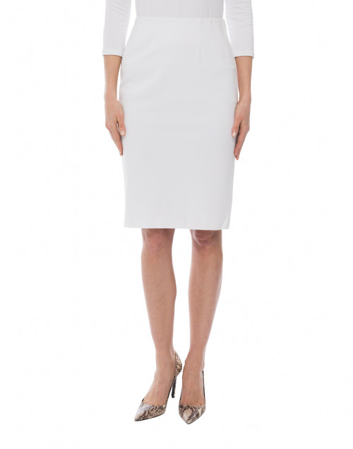 Peace of Cloth - Logan White Knit Pull-On Skirt