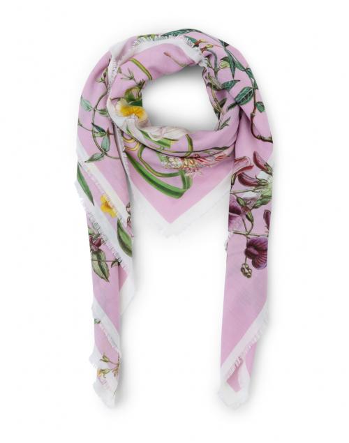 St. Piece - Kirsten Pale Pink Floral Wool Cashmere Scarf