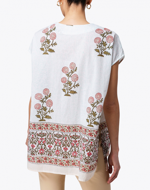Roller Rabbit - Anaji Ivory Flower Palace Floral Print Top