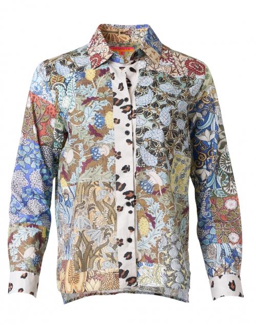 Vilagallo Isabella Patchwork Print Cotton Top