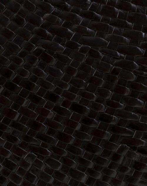SERPUI - Laila Black Straw Top Handle Bag