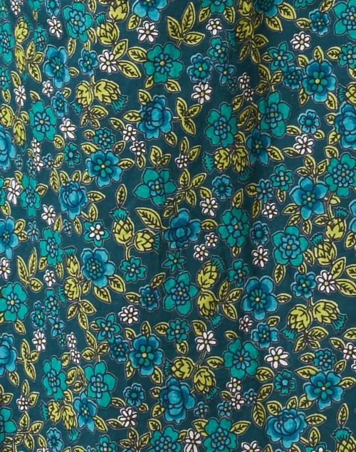 Banjanan - Olympia Green Floral Cotton Shirt Dress