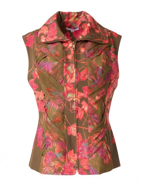 Ala von Auersperg Lilla Autumn Leaves Print Stretch Knit Vest