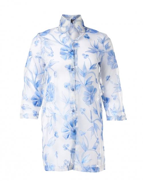 Connie Roberson - Rita Blue Cortez Embroidered Silk Organza Jacket