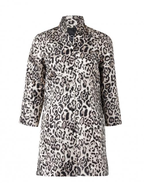 Connie Roberson - Rita White and Black Metallic Cheetah Silk Jacket