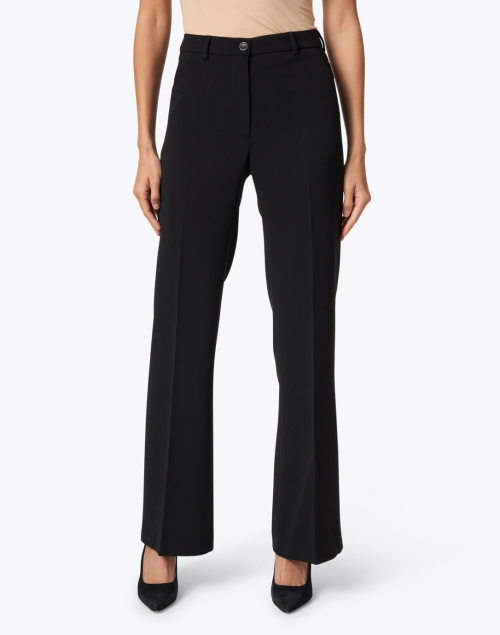 Seventy - Black Stretch Straight Flare Pant