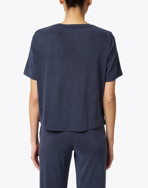 Majestic Filatures - Navy Cupro Stretch Tee