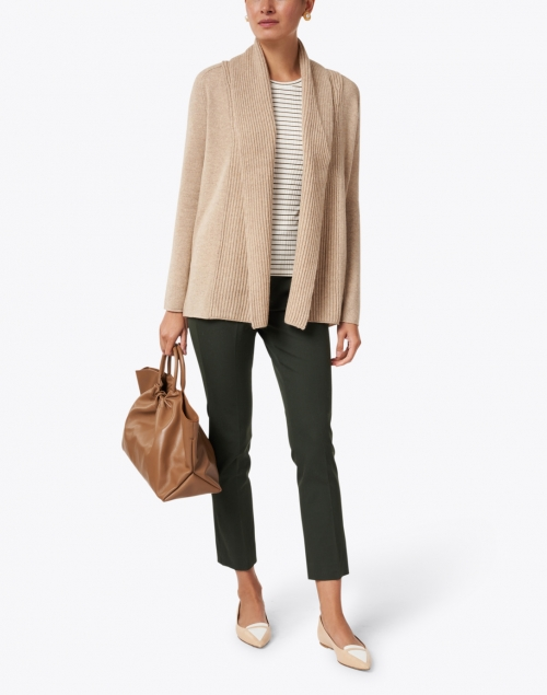 Peace of Cloth - Jerry Olive Green Stretch Cotton Pant