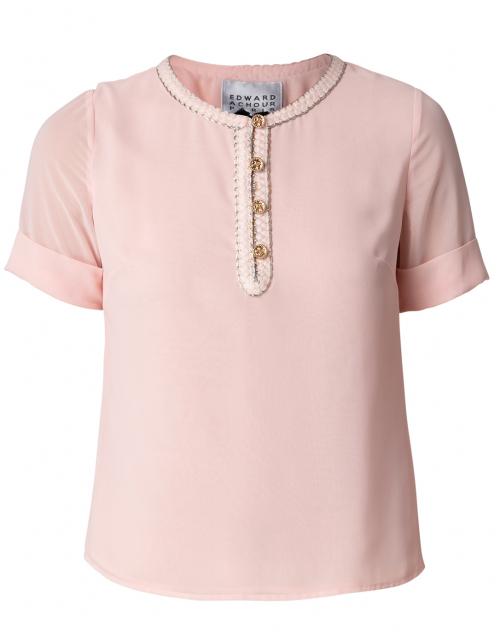 Edward Achour Pink Embellished Blouse