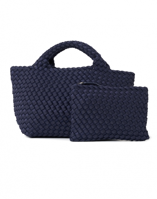 Naghedi - St. Barths Mini Solid Navy Woven Handbag