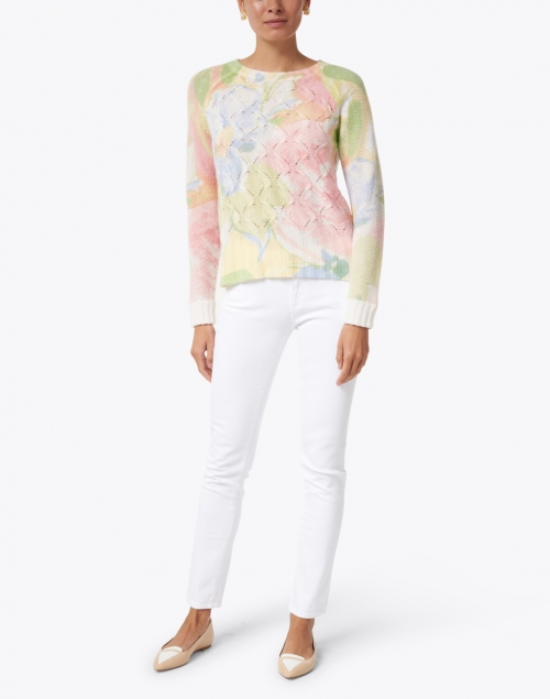 Kinross - Multi Floral Cashmere Sweater