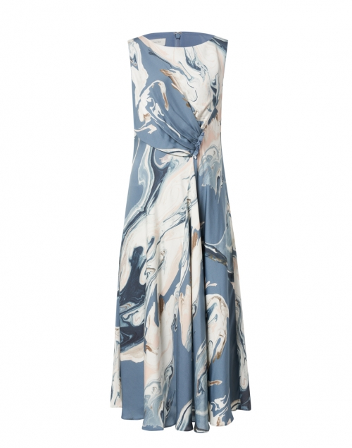 Lafayette 148 New York Anita Blue and White Geode Print Dress