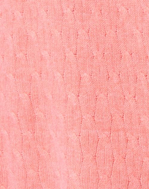 Cortland Park - Sophie Melon Orange Cable Knit Cashmere Cardigan