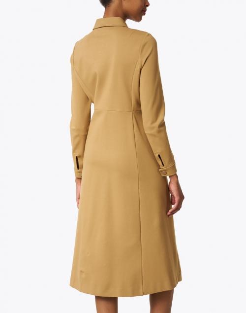Jane - Montreal Camel Jersey Shirt Dress