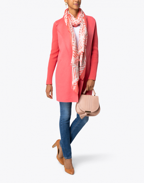 Kinross - Rosa Coral Wool Cashmere Coat