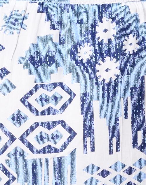 Walker & Wade - Kelsey Indigo Ikat Printed Dress