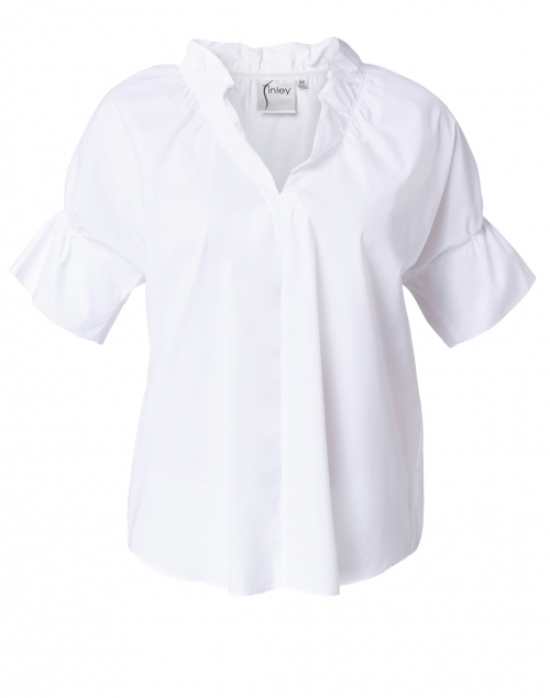 Finley Crosby White Silky Poplin Top