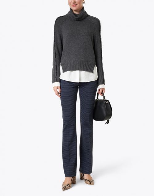 Brochu Walker - Jolie Grey Wool Cashmere Layered Turtleneck