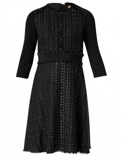 Ports International - Black and Pink Tweed Dress