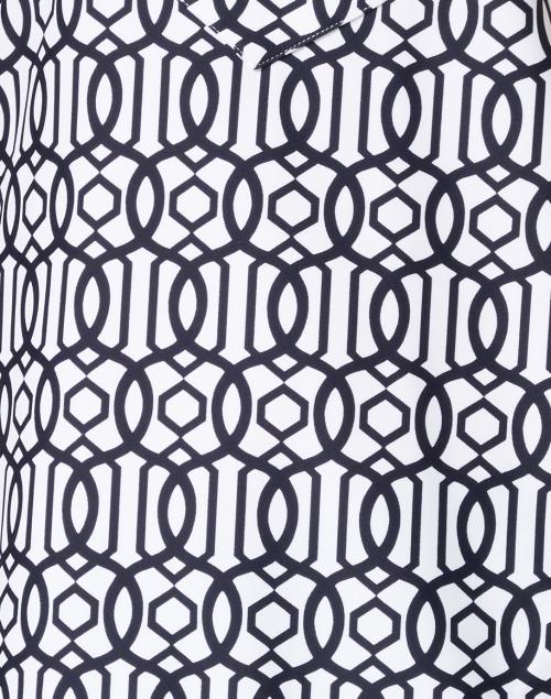 Jude Connally - Kiera Navy and White Bamboo Dot Printed Tunic
