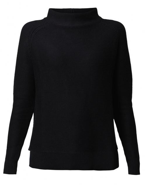 Kinross - Black Garter Stitch Cotton Sweater