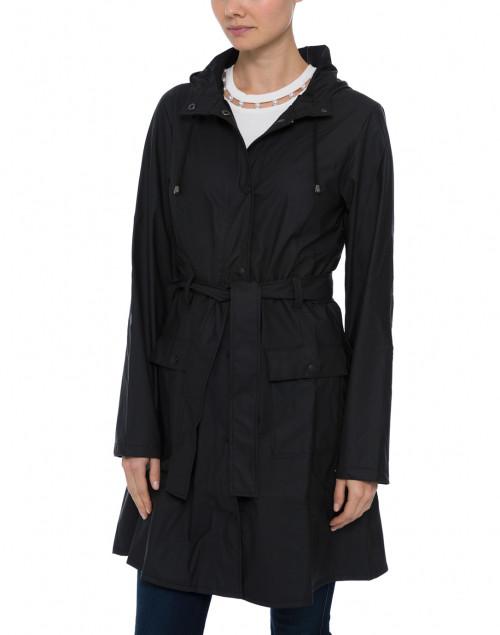 Rains - Black Curve Waterproof Raincoat