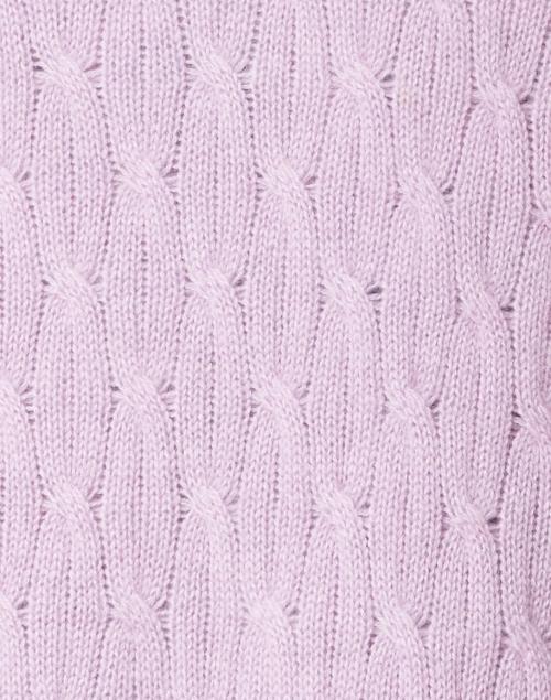 Cortland Park - Sophie Lavender Cable Knit Cashmere Cardigan
