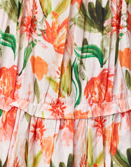 Bella Tu - Meadow Pink and Green Floral Printed Cotton Dress