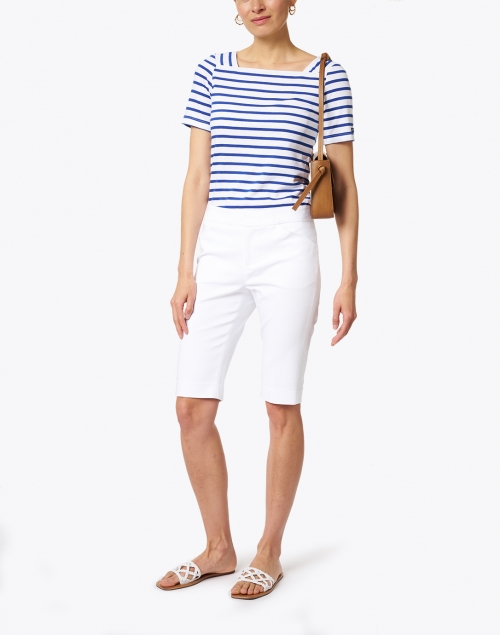 Peace of Cloth - Heather White Premier Stretch Cotton Shorts