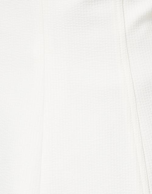Smythe - White Seersucker Ruched Blazer
