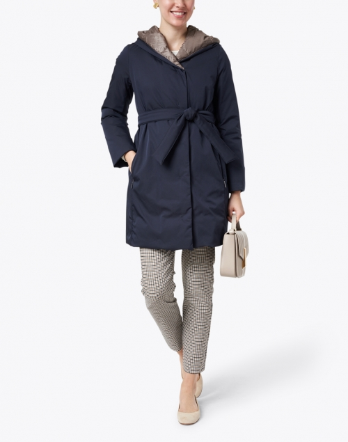 Weekend Max Mara - Eguale Navy and Brown Puffer Jacket
