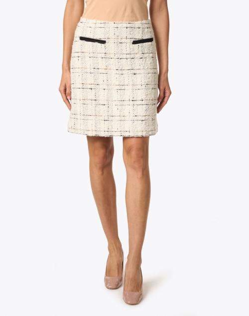 L.K. Bennett - Silvia Cream and Black Tweed Skirt