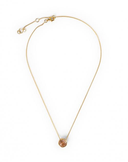Dean Davidson Morganite Gold Pendant Necklace
