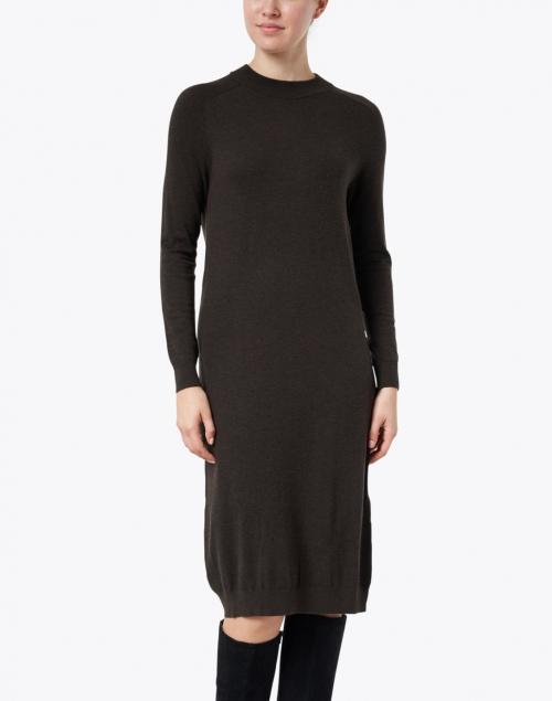 Weekend Max Mara - Marica Brown Stretch Wool Silk Knitted Dress