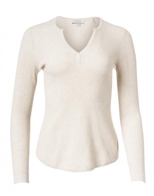 Kinross - Desert Beige Ribbed Cotton Cashmere Sweater