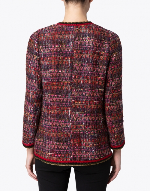 Edward Achour - Red and Plum Tweed Jacket