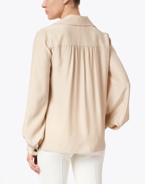 Lafayette 148 New York - Therese Beige Matte Silk Blouse