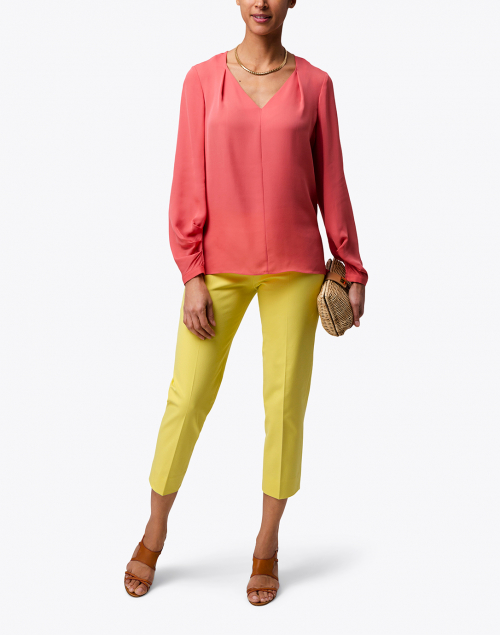 Piazza Sempione - Audrey Citron Yellow Stretch Cotton Pant