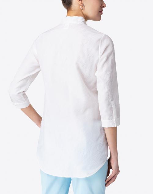 Leggiadro - Ivory Embroidered Silk Tunic