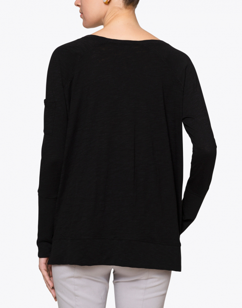 Lisa Todd - Beach Black Tee with Sleeve Pocket