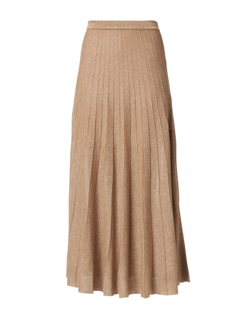 Joseph Champagne Pleated Knit Lurex Skirt