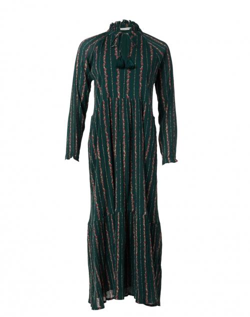 Roller Rabbit Garnet Mateaus Dark Green Stripe Cotton Dress