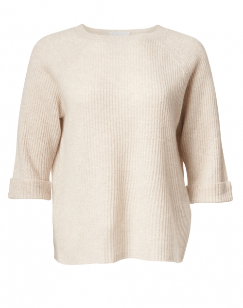 Allude - Marble Beige Ribbed Cashmere Sweater