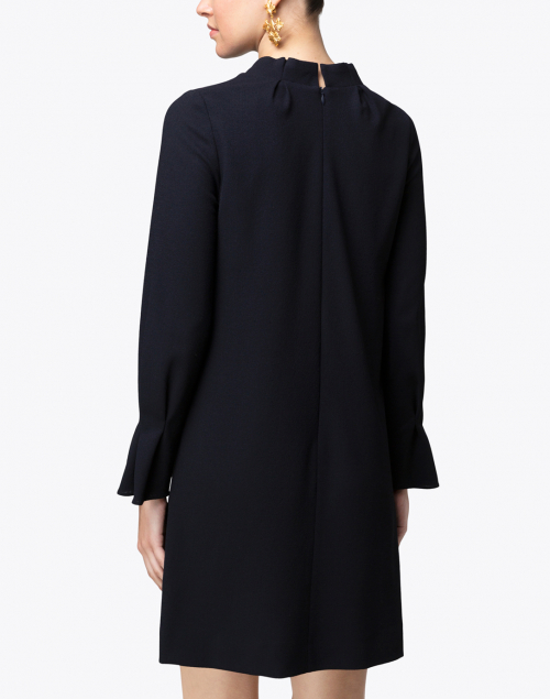 Goat - Elodie Navy Crepe Wool Tunic Dress