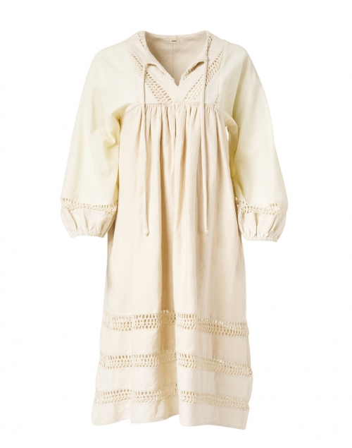 Warm - Cowerie Ivory Crochet Cotton Dress