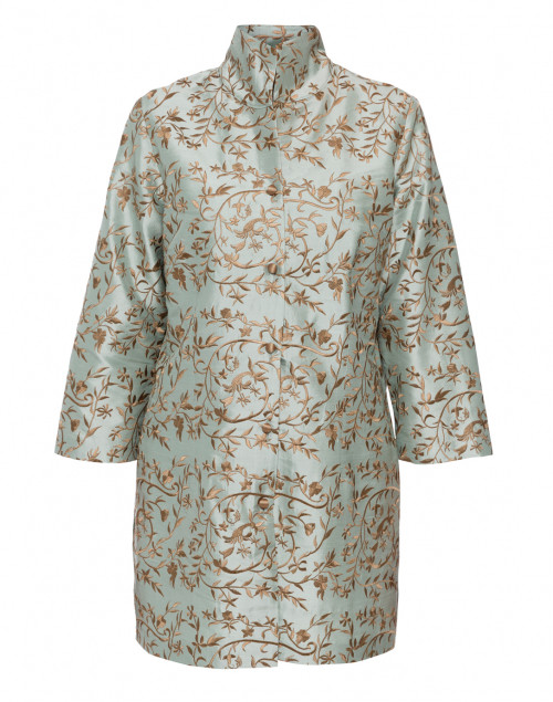 Connie Roberson - Rita Green Gold Floral Embroidered Silk Jacket