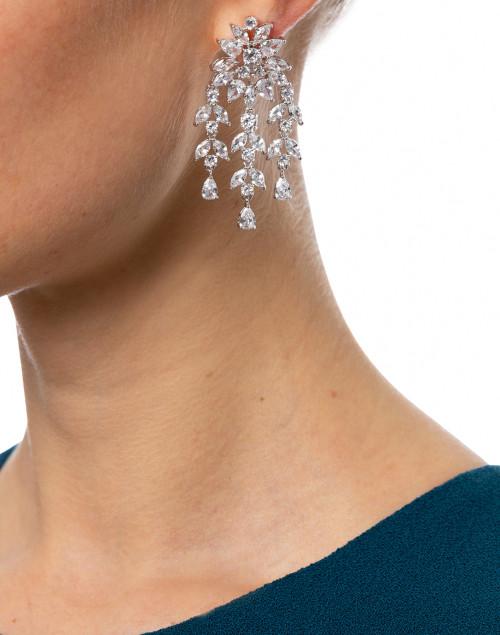 FALLON - Monarch Crystal Fern Drop Earrings
