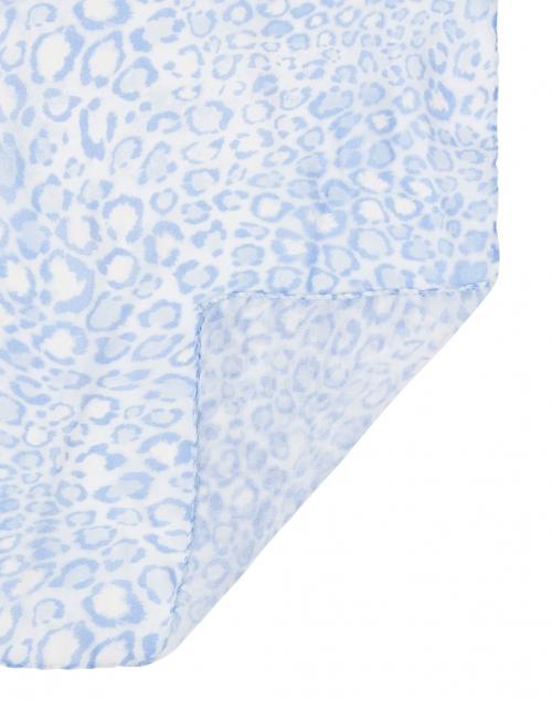 Leggiadro - Blue and Ivory Animal Print Modal Scarf